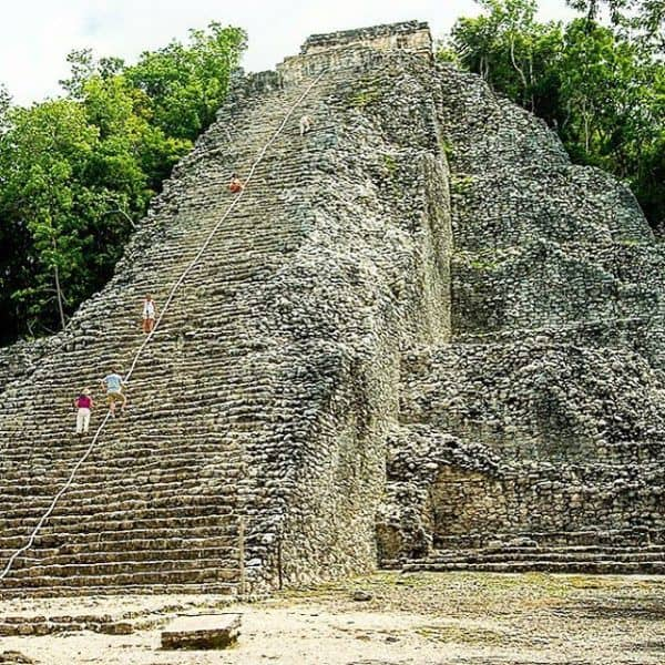 Coba Mexico the main Mayan Temple which can be climbedhellip