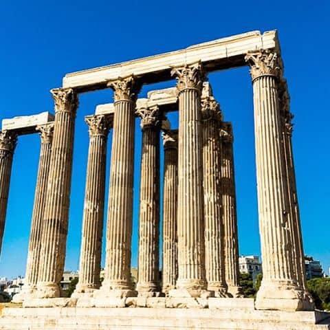 The temple of Zeus in Athens Greece greece athens religioussiteshellip