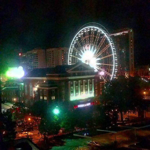 Our view of downtown Atlanta tonight from the Doubletree byhellip