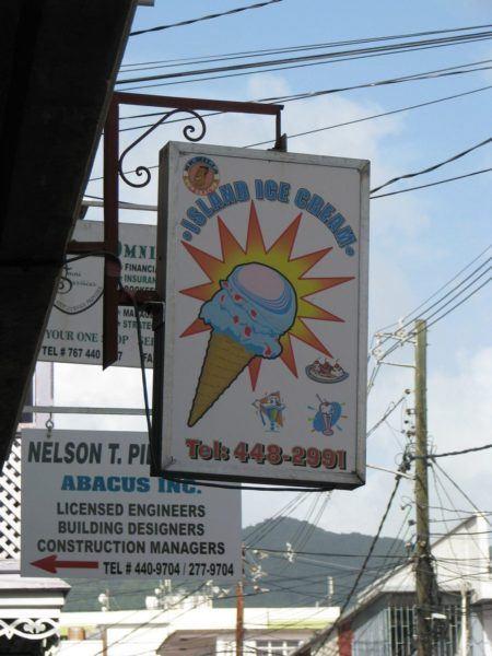 Roseau ice cream shop