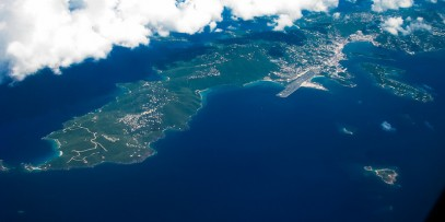 Aerial view of Cominica