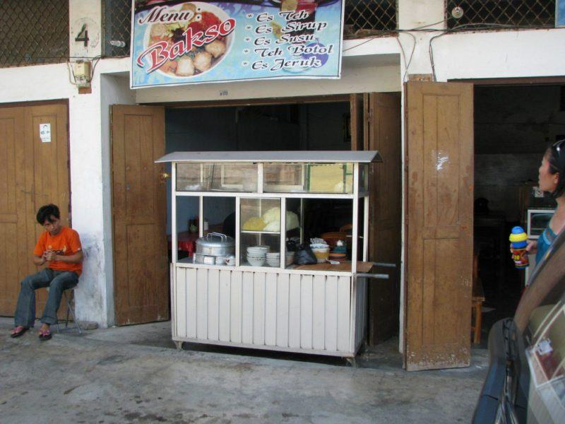 Kupang restaurant selling bakso, a popular street food