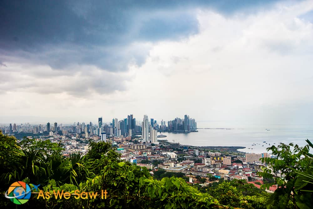 Panama City coastline and Costa del Este as seen from Ancon Hill