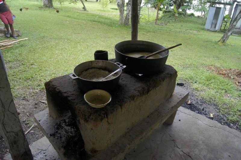 Panamanian sancocho, prepared in a big pot by campesinos in a rural village in Panama.