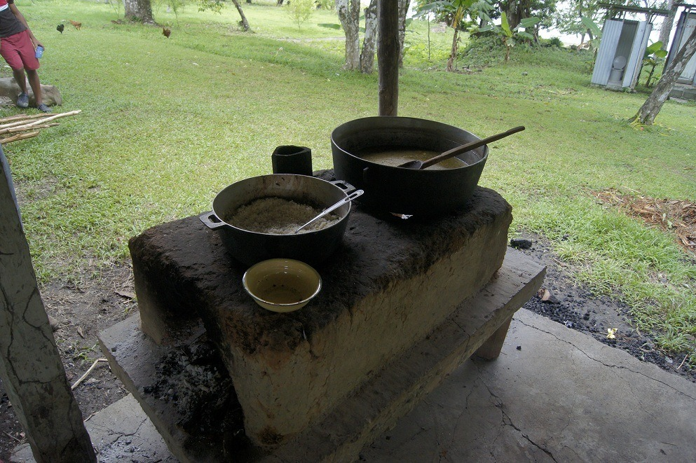 Panamanian sancocho, prepared in a big pot by campesinos in a rural village in Panama.