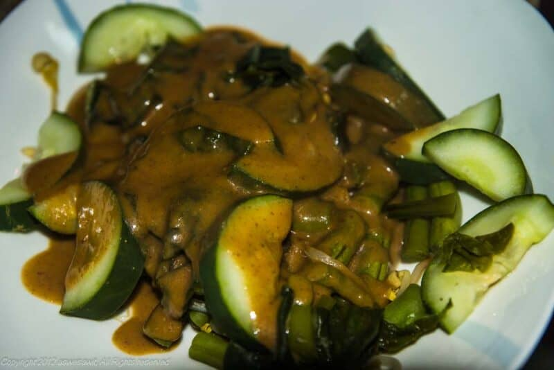 Gado gado salad with peanut dressing