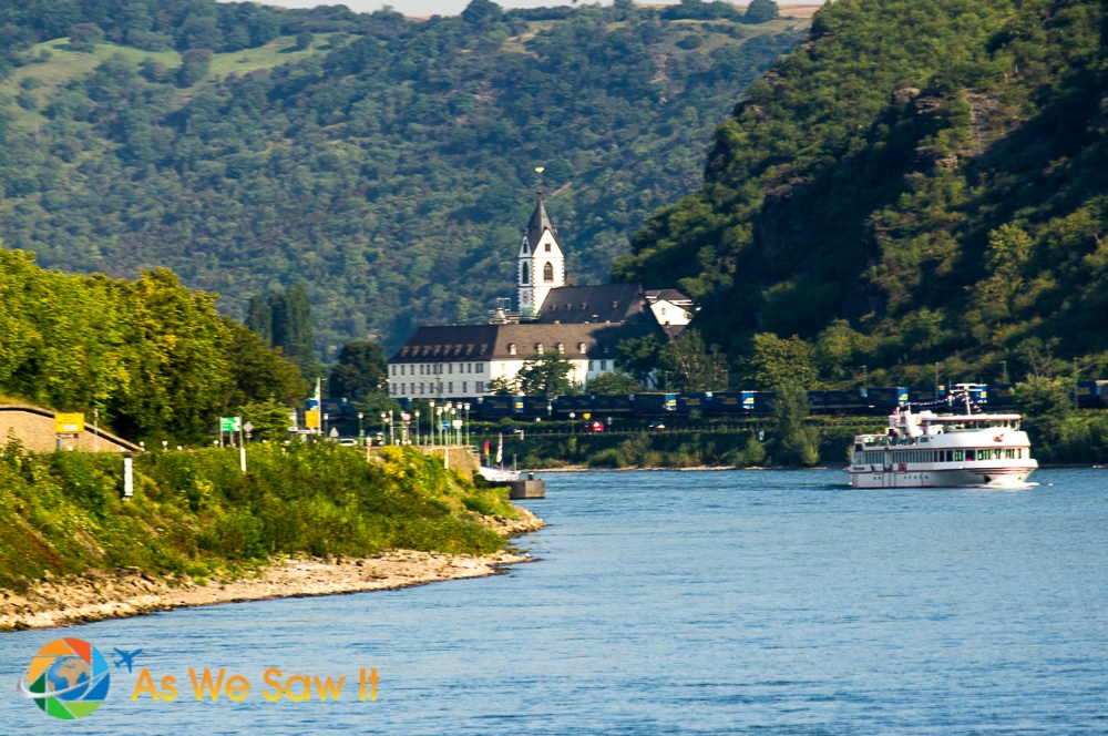 Cruise ship on the Rhine River