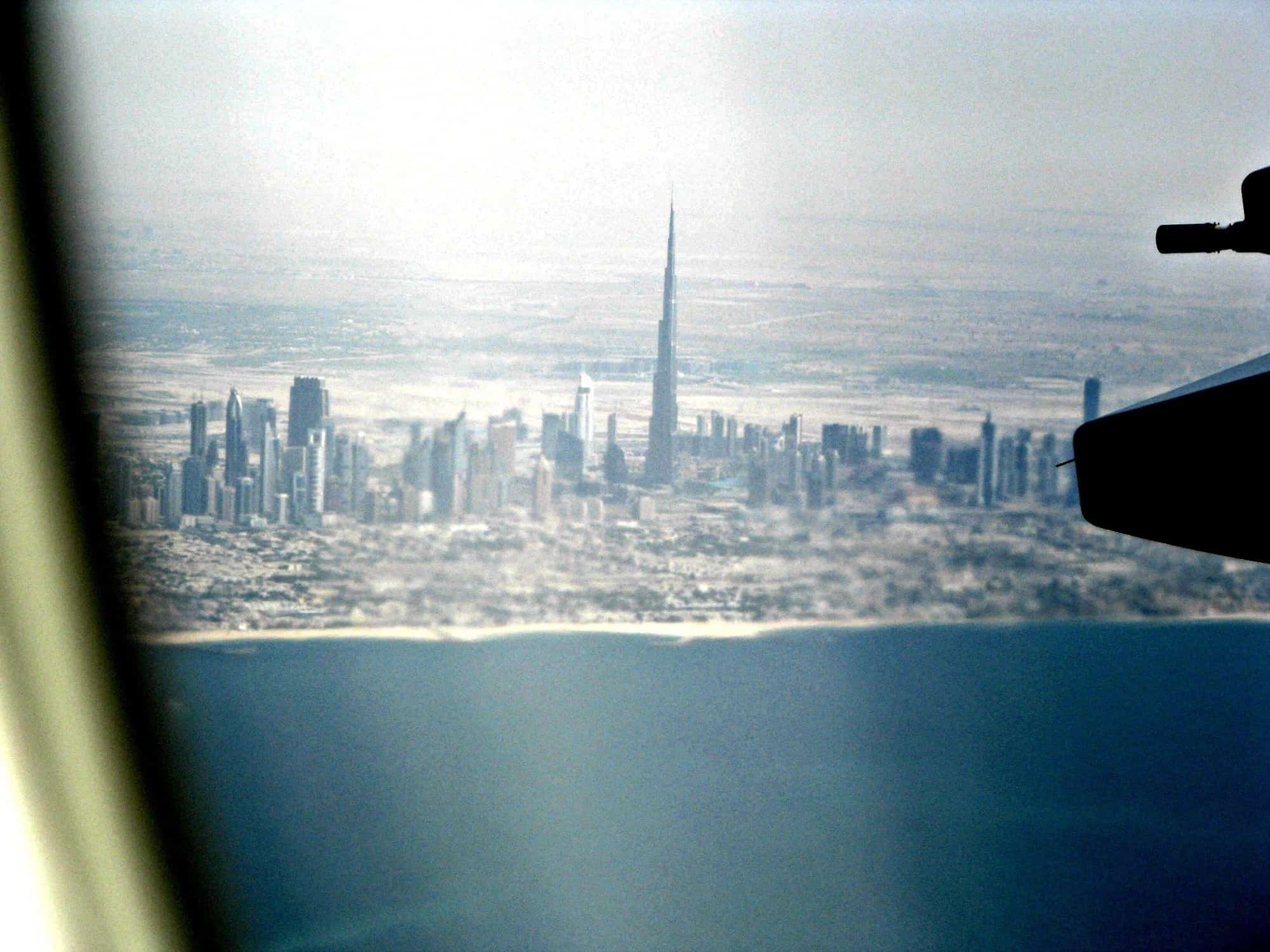 View of Dubai and the Burj Khalifa