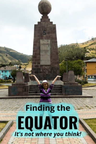 Standing on latitude 0°, the real equator line in Ecuador, is harder than it looks. For one thing, all but one of the 'equator lines' around Quito is wrong. Click to learn where the true Middle Earth really is. #ecuador #quito #travel #equatorline #thingstodo #equator #monuments #southamerica #attractions #geography