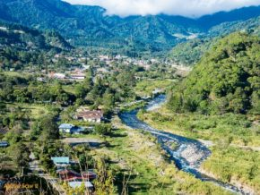 A river runs through the valley of Boquete Panama