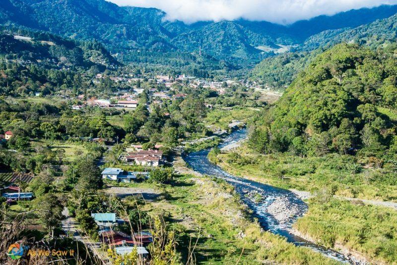 A river runs through the valley of Boquete Panama