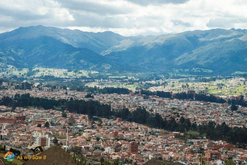Overlooking Cuenca, Ecuador