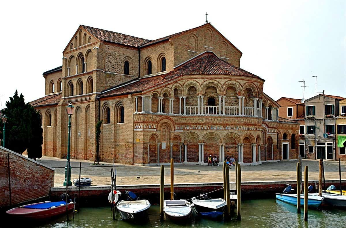 Arched facade of Church of Saints Mary and Donatus on Murano
