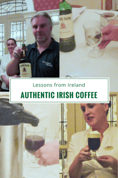 Easy recipe for how to make a Jameson Irish Coffee + how it began, tasty hot alcoholic coffee variations and resources for making Irish Coffee yourself. Direct from Ireland! #coffee #ireland #recipes