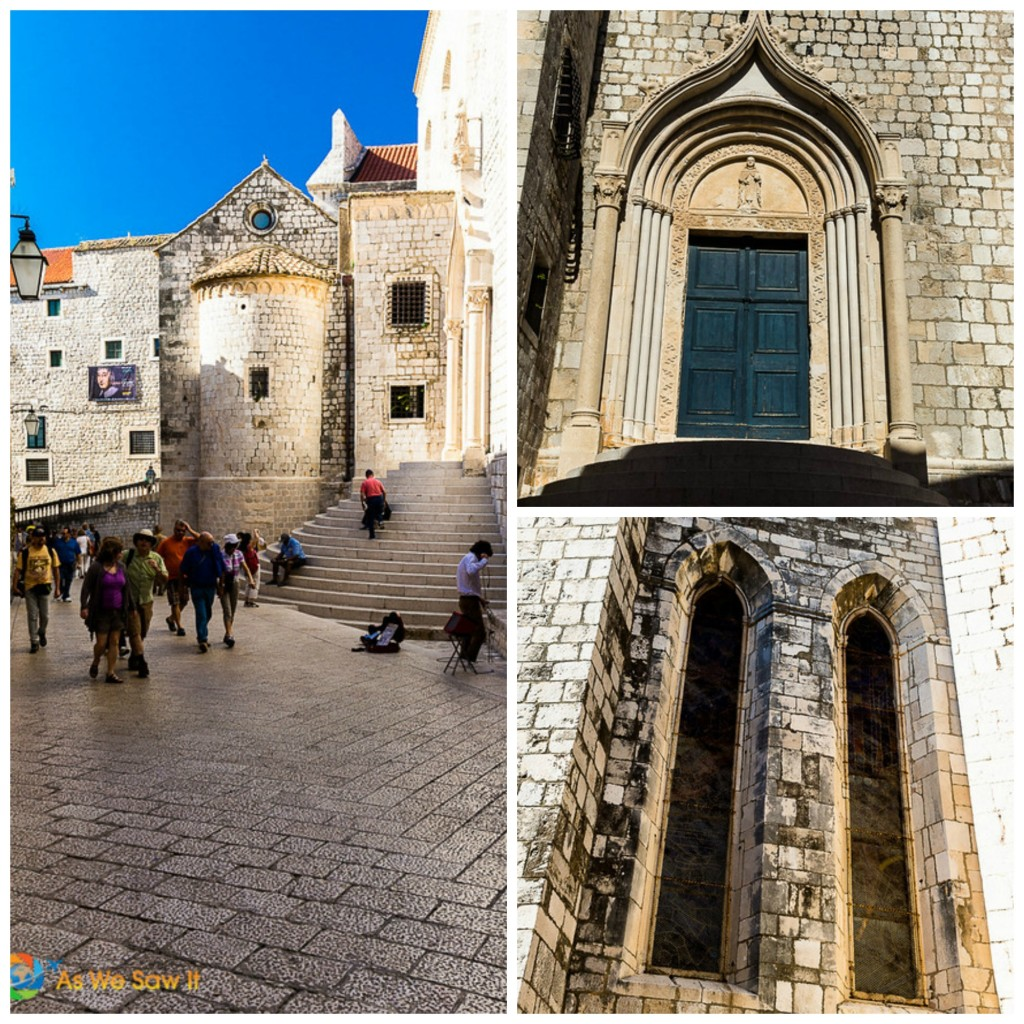 medieval doors and windows in Dubrovnik
