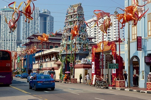 Fantastic Singapore Architecture: Sri Mariamman Hindu Temple