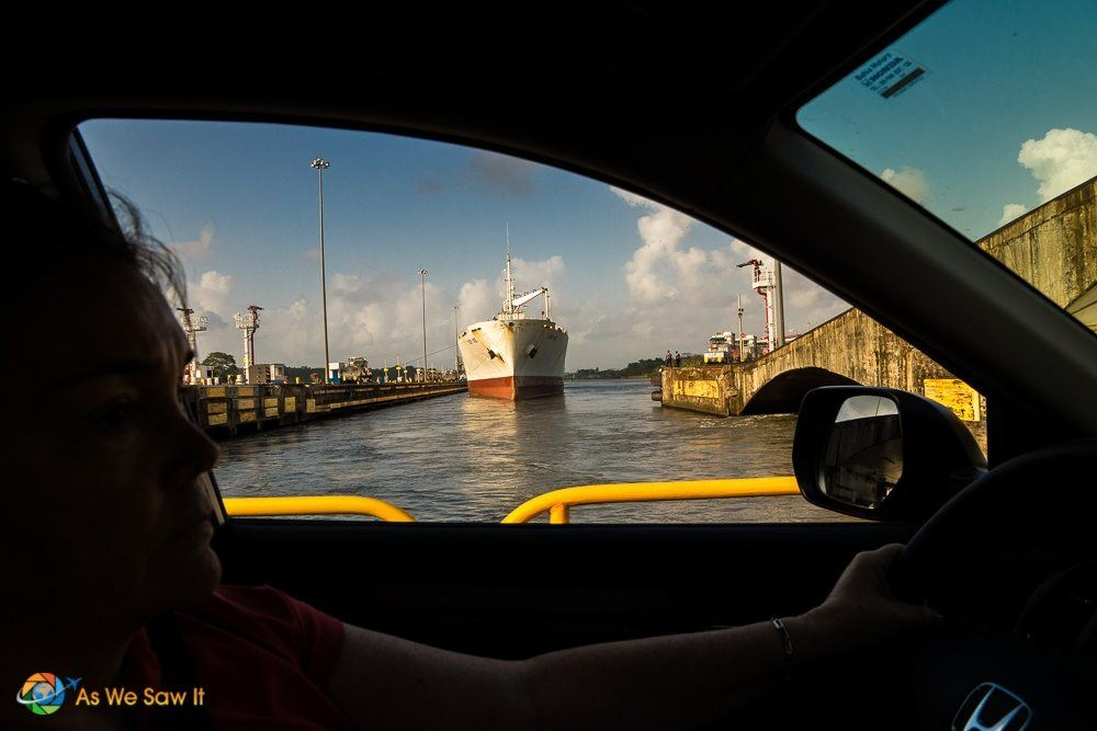 View Driving Through The Panama Canal
