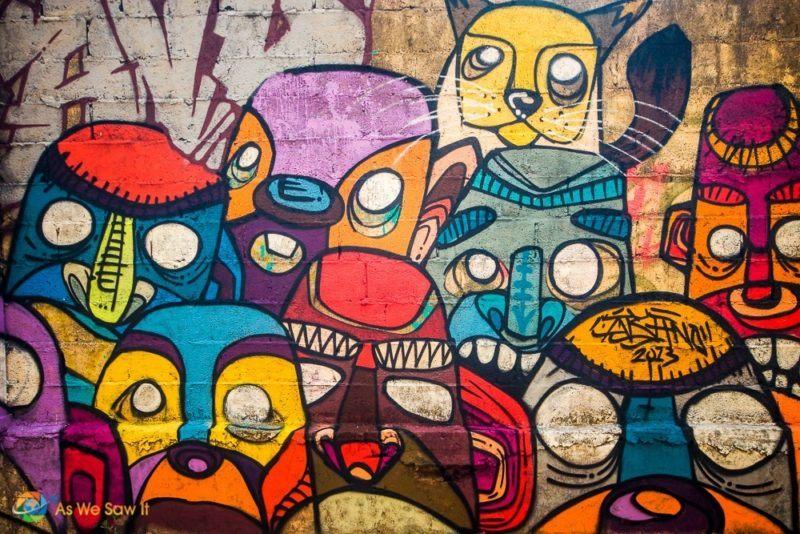 Casco viejo street art masks