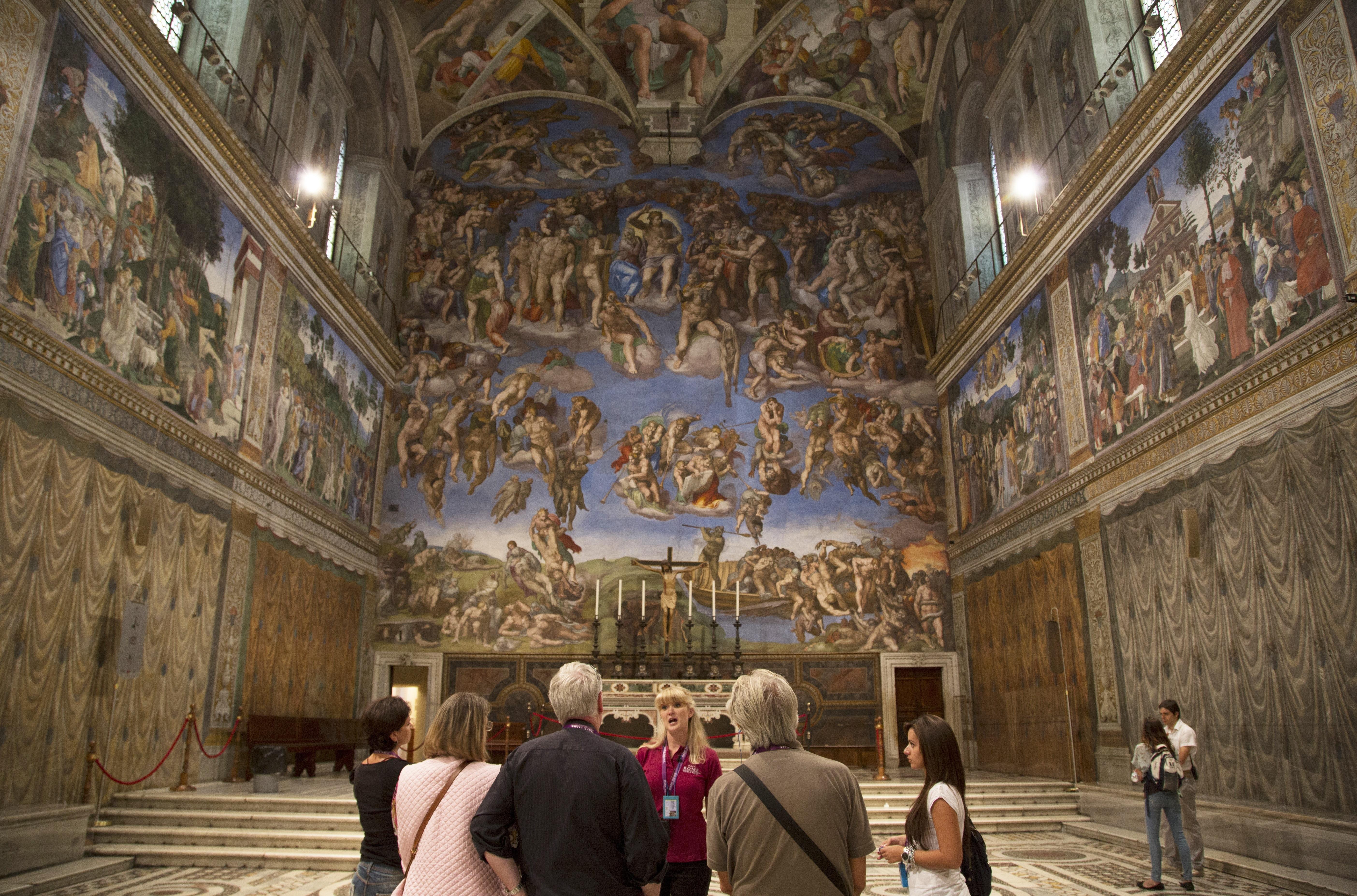 Inside the Sistine Chapel, Vatican City