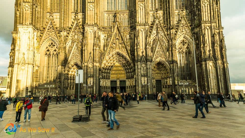 Lower facade of Kolner Dom, aka Cologne cathedral