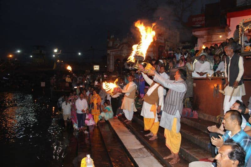 Watch a festival in Varanasi India