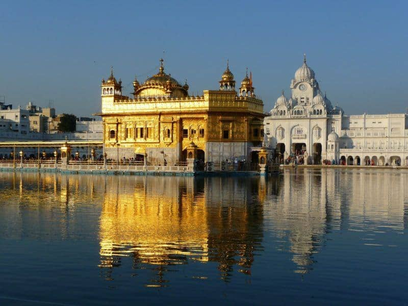 Golden Temple of Amritsar and its reflection in the water