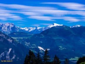 Swiss alps as seen from Mt. Pilatus