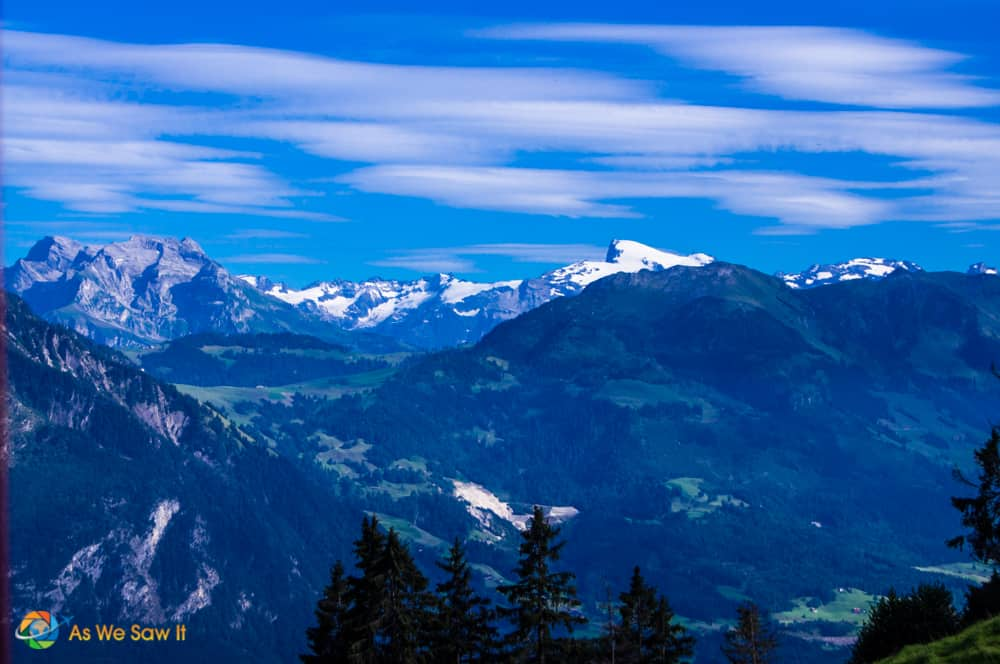Swiss alps as seen from Mt. Pilatus
