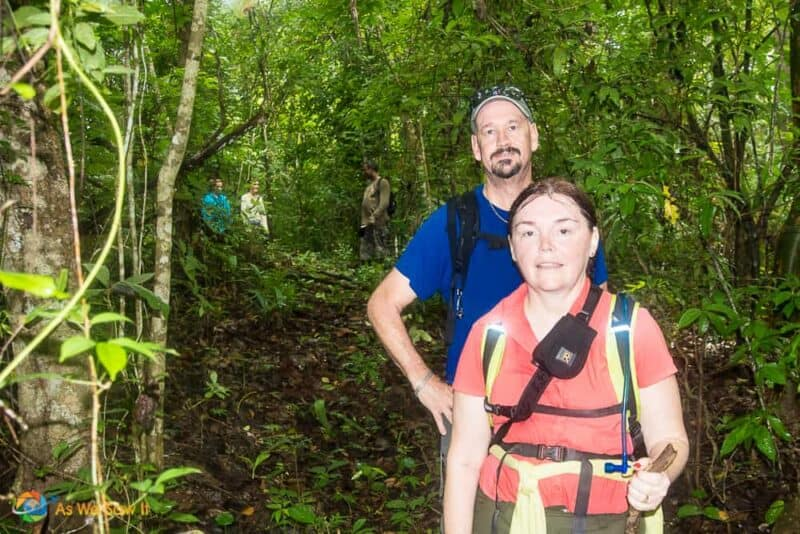 Two hikers in Darien Gap jungle.