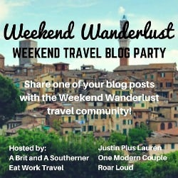Travel Blog Linkup logo: Weekend Wanderlust