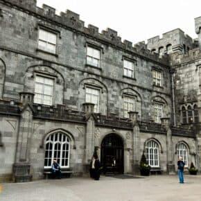 Interior wall of Kilkenny Castle in Ireland