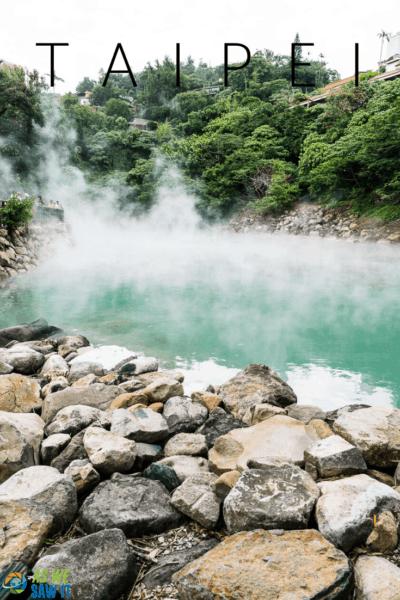 beitou hot springs text says taipei