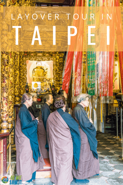 monks at temple text says taipei
