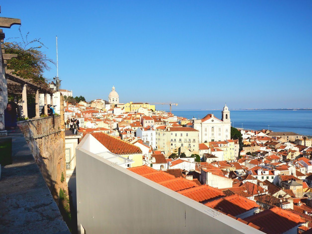 Lisbon cityscape from Santa Luzia viewpoint