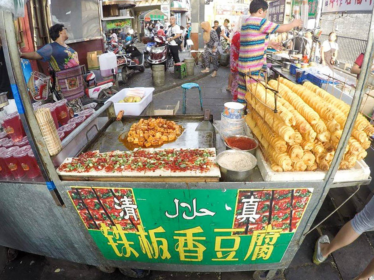 street food stall in China