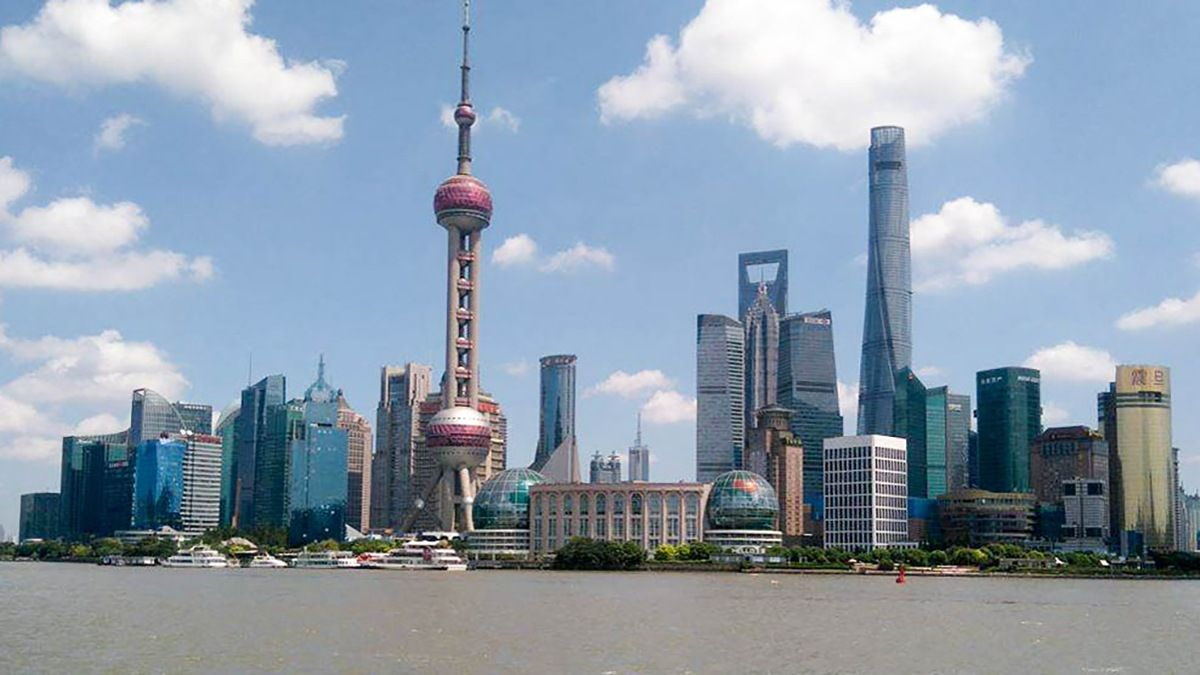 Shanghai's financial district as seen from the Bunc