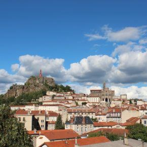 Town of Le Puy en Velay, France, where author did his WWOOF volunteer work.