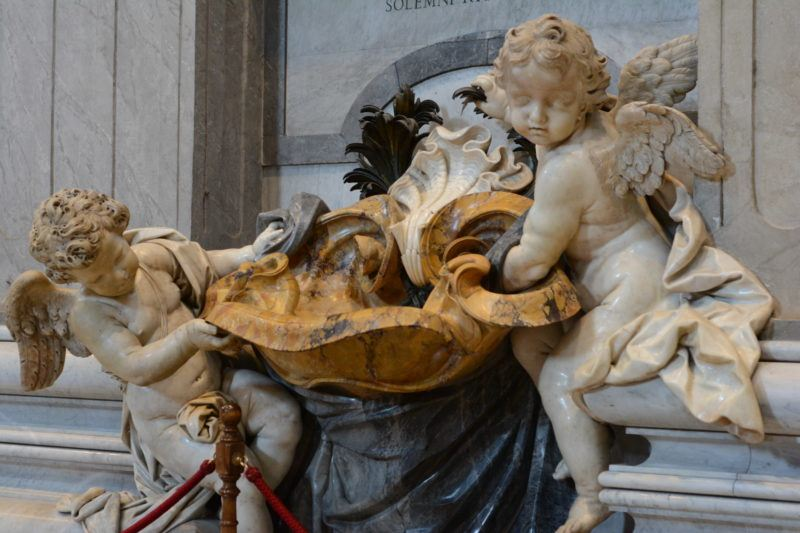 cherub statue at St. Peter's Basiilica