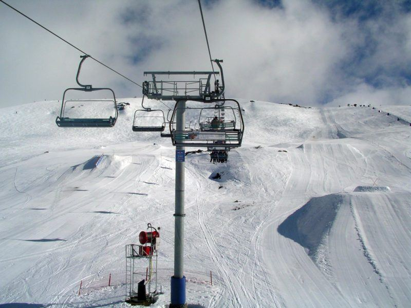 Ski lift at Falls Creek Ski Resort