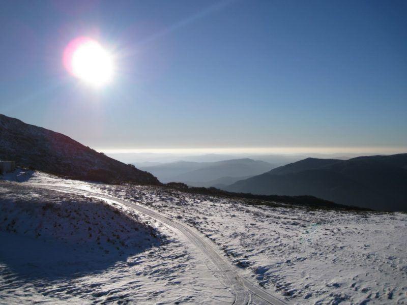 Ski slope on Mt. Buller