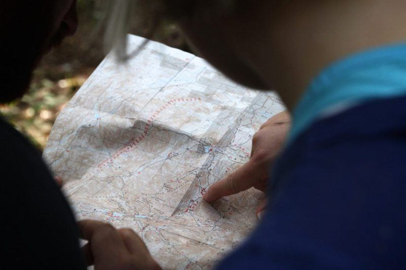 Packing a map is essential when visiting a national park