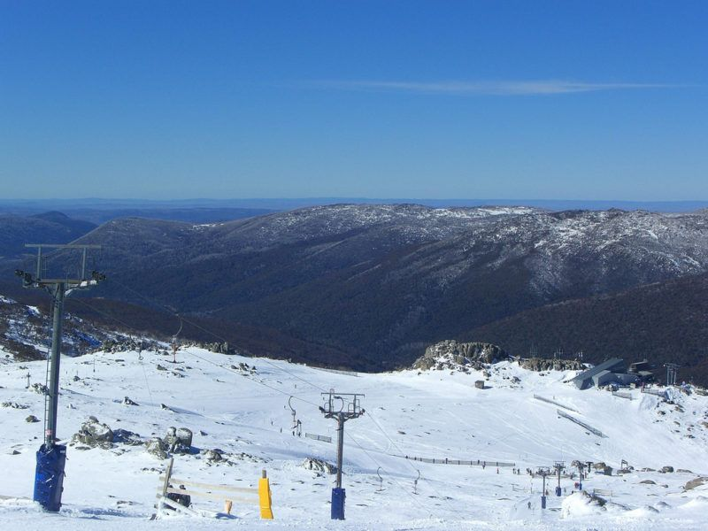 Ski slope at Thredbo, one of the 8 best places to ski in Australia