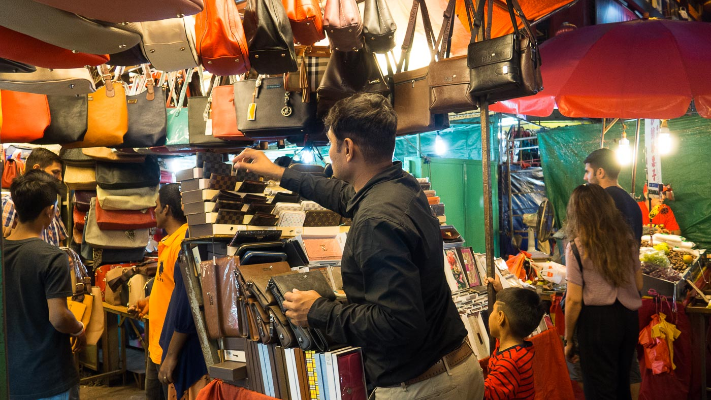 This shopkeeper on Petaling street is not a local.