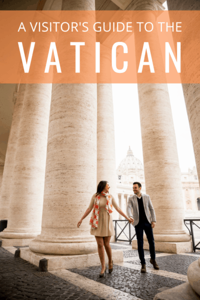 a couple touring the vatican text says a visitor's guide to the vatican