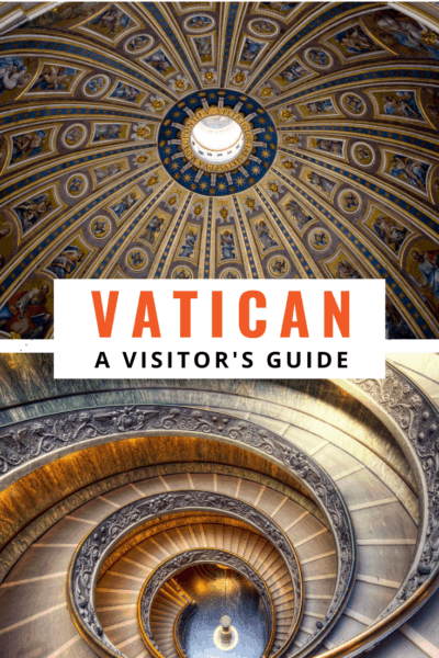 collage from the vatican text says vatican a visitor's guide