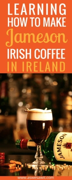 Our delectable dinner at the Granville Hotel in Waterford, Ireland ended with a lesson in how to make an Irish coffee with Jameson Whiskey. It was a fun and very Irish experience that we loved. | As We Saw It #ireland #irishcoffee #waterford #jameson #whiskey