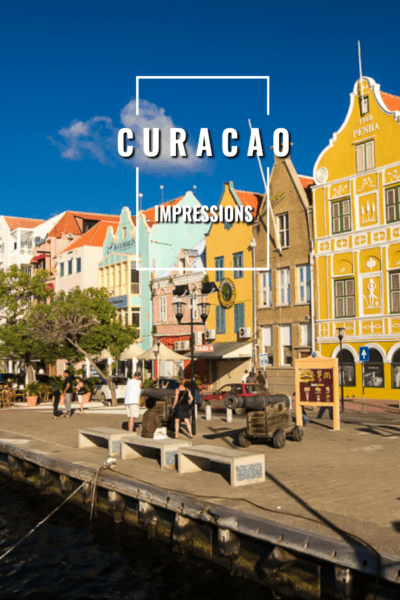 Waterfront of Willemstad Curacao
