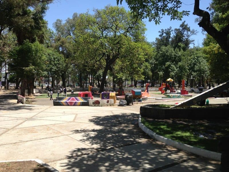 Children on a playground in Guadalajara's Metropolitan Park