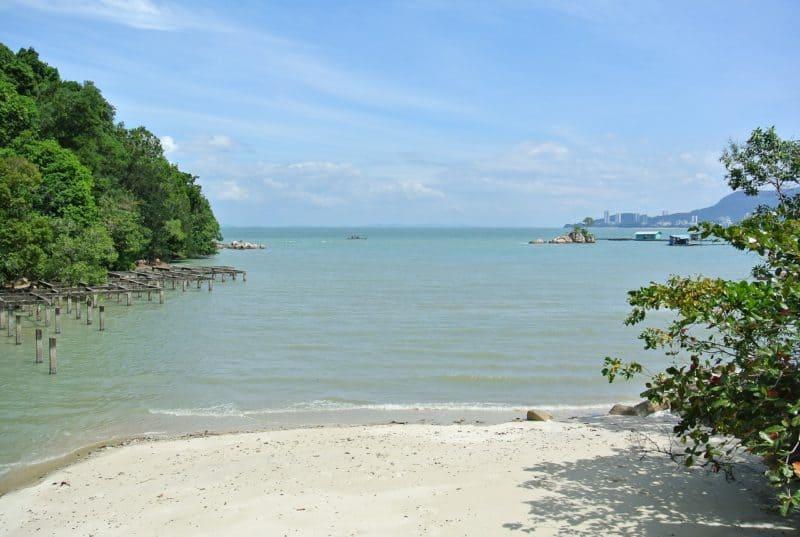 Beach and water on Tioman Island