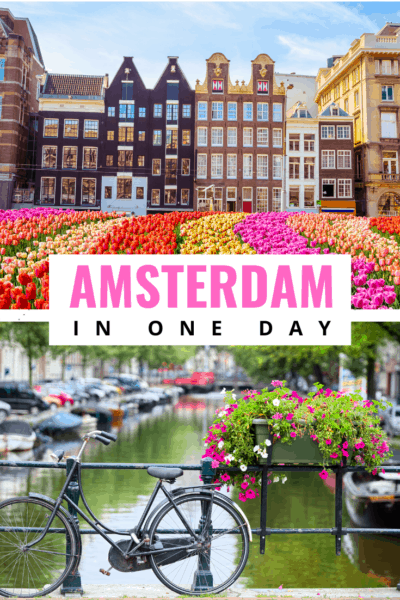 Collage text says amsterdam in one day